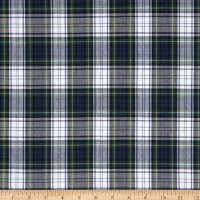 Poly/Cotton Uniform Plaid Blue/Green/White/Yellow