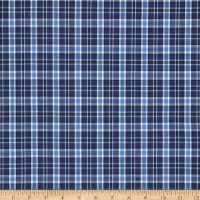 Poly/Cotton Uniform Plaid Navy/Blue/Black/White Poplin