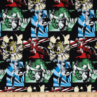 Marvel Comics Characters Patchwork Multi