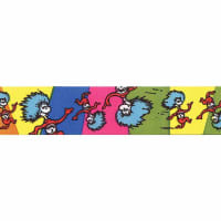 "7/8"" Dr. Seuss Thing One Thing Two Ribbon Multi"