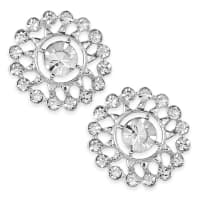2.1cm Glass Rhinestone Button