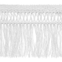 "4 1/2"" Maddie Lattice Edge Chainette Fringe White"