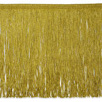 "12"" Metallic Chainette Fringe Gold"