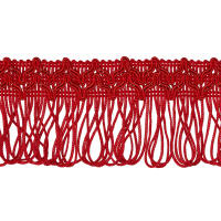 "2"" Sharlene Loop Chainette Fringe Red"