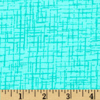 Westrade 110 In. Wide Quilt Back Betula Flannel Aqua