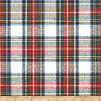 Washable Wool Plaid Cream/Red/Blue