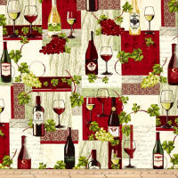 Wine Country Wine Bottle Patchwork