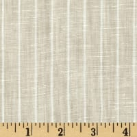 Telio Tuscany Pinstripe Chambray Linen Light Tan/Cream