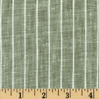 Telio Tuscany Pinstripe Chambray Linen Light Green/Cream