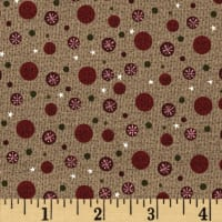 Winter Village Snowflake Dots Olive