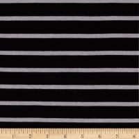 "Riley Blake Stretch Jersey Knit Stripe 1/4"" Black/Gray"