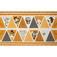 QT Fabrics Sew Scary 24 In. Bunting Halloween Panel Orange