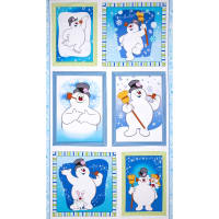 Silly Snowman 24 In. Frosty Picture Patch Panel Blue