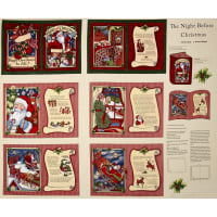 Christmas Night Before Christmas Soft Book 32 In. Panel Multi