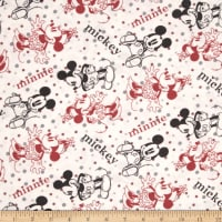 Disney Minnie & Mickey Flannel Editorial White