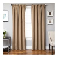 Sunbrella 84'' Solid Rod Pocket Curtain Panel Heather Beige