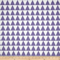 RCA Pax Triangles Blackout Drapery Fabric Purple