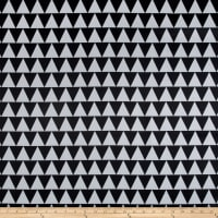 RCA Pax Triangles Blackout Drapery Fabric Black