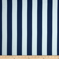 RCA Vertical Stripe Blackout Drapery Fabric Blue