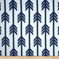 RCA Arrows Blackout Drapery Fabric Blue