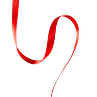 "3/8"" Offray Double Face Satin Ribbon Red"