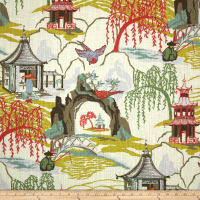 Robert Allen @ Home Neo Toile Coral
