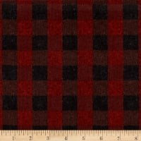 Penny Rose Menswear Flannel  Check Red