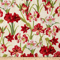 Making Spirits Bright 57 In. Wide Amaryllis Allover Ivory