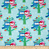 Michael Miller All the Trimmings Christmas Lovebirds Winter