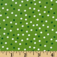 Kaufman Remix Scattered Small Dots Green
