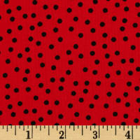 Kaufman Remix Scattered Small Dots Red