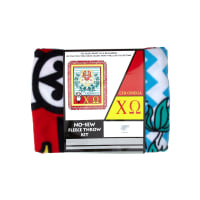 No Sew Fleece Kit Chi Omega Red/Yellow/Black