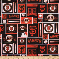 MLB Cotton Broadcloth San Francisco Giants Orange/Black