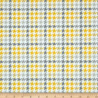 Kaufman Cozy Cotton Flannel Houndstooth Yellow