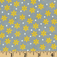 Kaufman Cozy Cotton Flannel Daisy Yellow