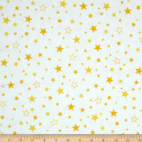 Kaufman Cozy Cotton Flannel Stars Yellow