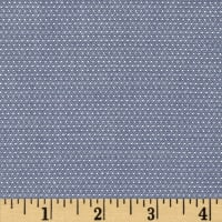 Kaufman Cotton Chambray Pin Dots Denim