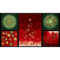 Kaufman Radiant Holiday Metallic 24 In. Panel Holiday
