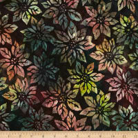 Kaufman Northwood Batiks Poinsettia Leaf Merlot