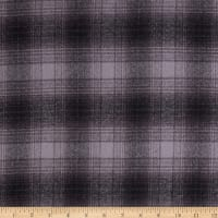 Kaufman Mammoth Flannel Plaid Grey