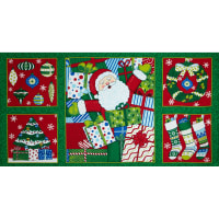"Moda Ho! Ho! Ho! 36"" Panel Christmas Tree Green"