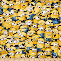 QT Fabrics Universal Despicable Me 1 in A Minion Packed Minions Yellow
