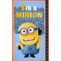 Universal Despicable Me 1 in A Minion 24 In. Panel Dusty Blue