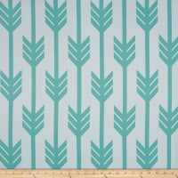 RCA Arrows Blackout Drapery Fabrics Jade/White