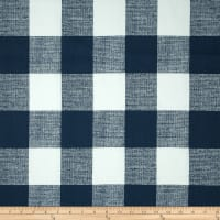 Premier Prints Anderson Check Slub Home Decor Fabric Premier Navy