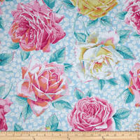 Kaffe Fassett Rose Bloom Sky