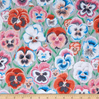 Kaffe Fassett Pansies Grey