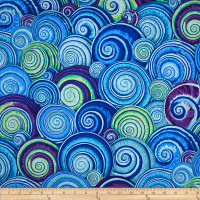 Kaffe Fassett Spiral Shells Cotton Fabric Blue