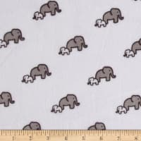 Shannon Kaufman Minky Cuddle Elephants Snow