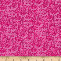 Tula Pink True Colors Daisy Buds Fuchsia